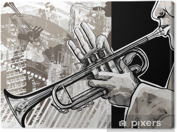 Tableau sur toile Joueur de trompette - Jazz