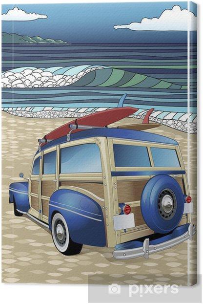 Tableau sur toile Jour Surf - Vacances