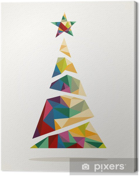 Tableau sur toile Joyeux branché arbre abstrait EPS10 fichier Noël. -