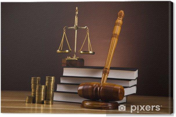 Tableau sur toile Judge gavel - Justice