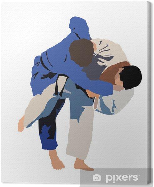 Tableau sur toile Judo Siluette - Sports extrêmes