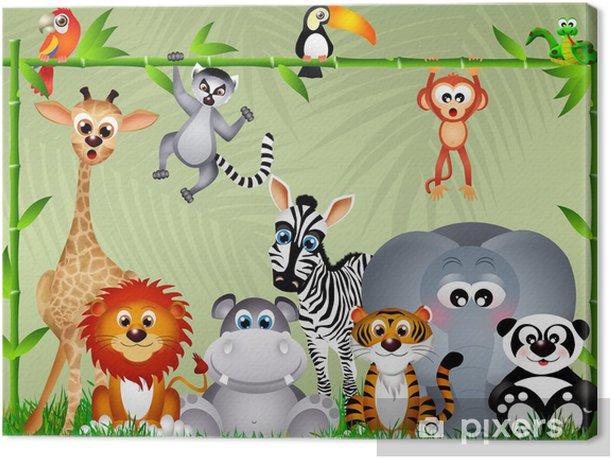 Tableau sur toile Jungle animaux -