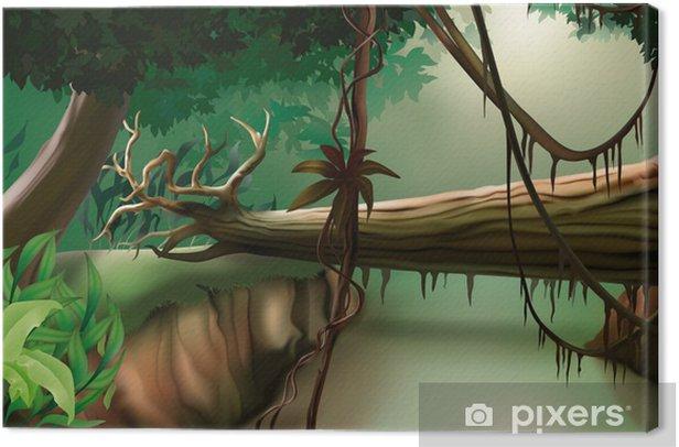 Tableau sur toile Jungle - illustration de fond - Nature et régions sauvages