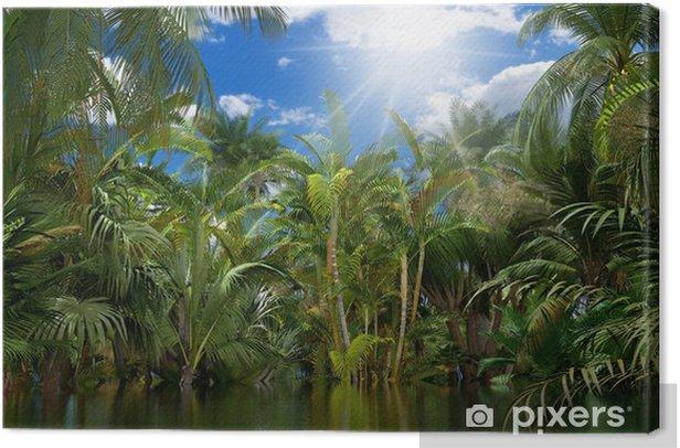 Tableau sur toile Jungle v2 - Thèmes