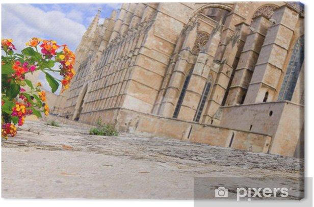 Tableau sur toile Kathedrale La Seu - Palma - Majorque - Vacances