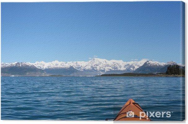 Tableau sur toile Kayak glacier Columbia