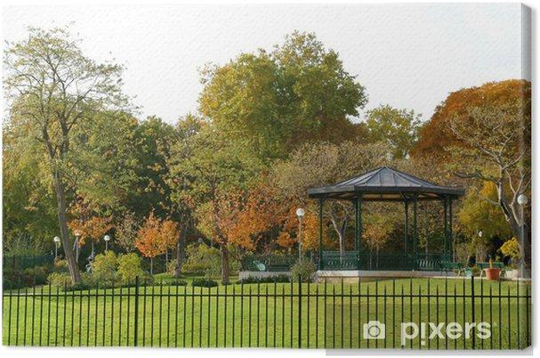 Tableau sur toile Kiosque et jardin public • Pixers® - Nous vivons ...