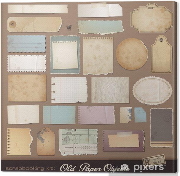 Tableau Sur Toile Kit Scrapbooking Numerique Papier Vieilli Pixers Nous Vivons Pour Changer
