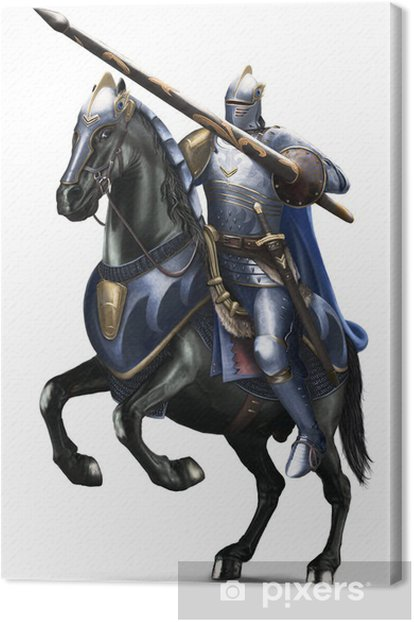 Tableau sur toile Knight - Cavaliere - Sports individuels