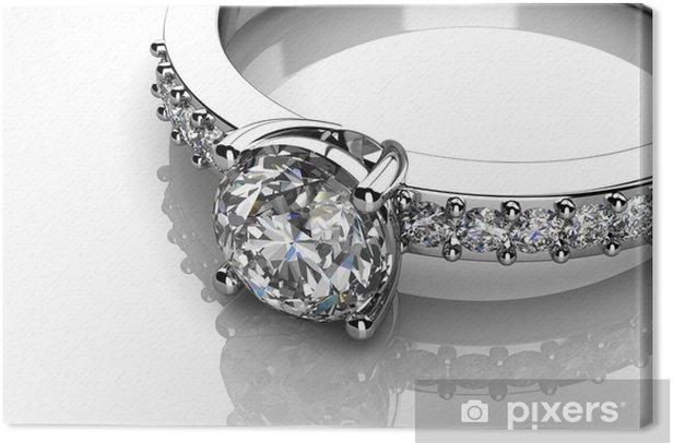 Tableau sur toile L'anneau de mariage beauté - Destin