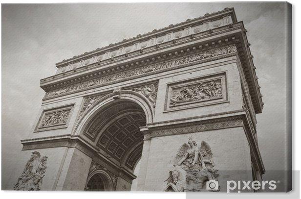 Tableau sur toile L'Arc de Triomphe, Paris, France - Villes européennes