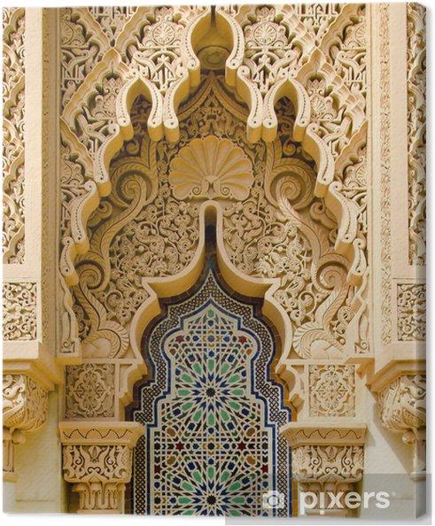 Tableau sur toile L'architecture traditionnelle marocaine - iStaging