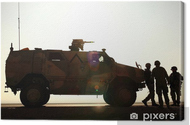 Tableau sur toile L'armée allemande en Afghanistan - Au travail
