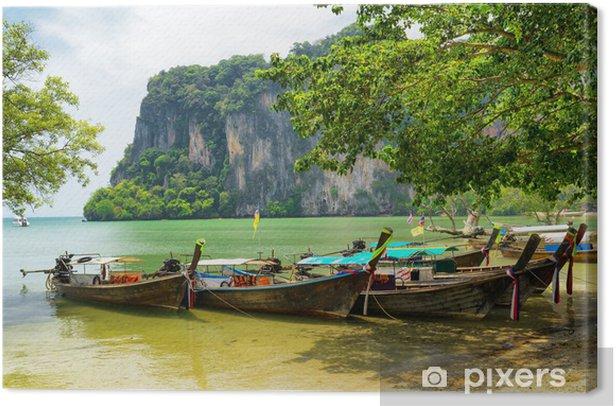 Tableau sur toile L'eau claire et ciel bleu - Asie