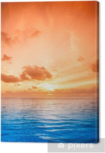 Tableau sur toile L'eau de mer tropical aux Maldives - Océanie