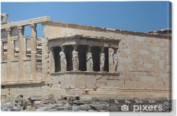 Tableau sur toile L'Erechthéion à l'Acropole, à Athènes - Grèce - Europe