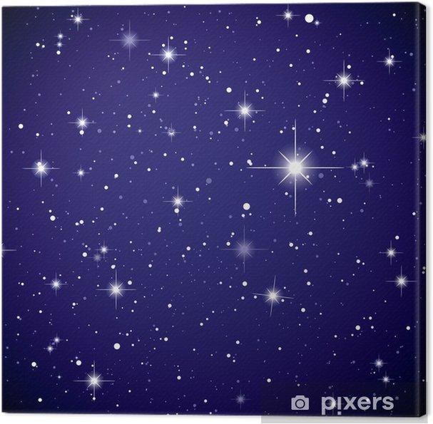 Tableau sur toile L'espace d'affichage étoile ciel - Univers
