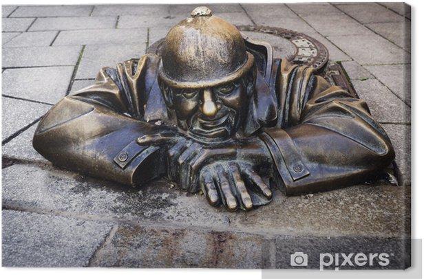 Tableau sur toile L'homme au travail, Bratislava, Slovaquie - Europe