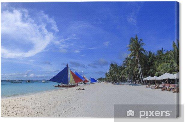 Tableau sur toile L'île de Boracay blanc philippines plage - Asie