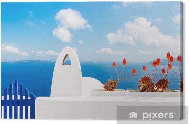 Tableau sur toile L'île de Santorin en Grèce - Europe