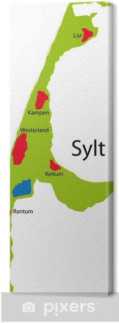 Tableau sur toile L'île de Sylt - Vacances