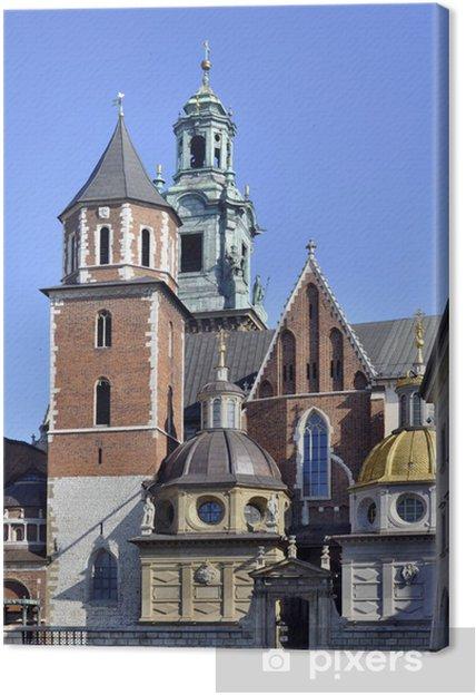 Tableau sur toile La cathédrale du Wawel à Cracovie, en Pologne - Europe