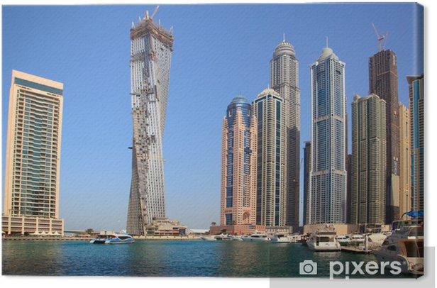 Tableau sur toile La construction de gratte-ciel Infinity Tower à Dubaï - Thèmes
