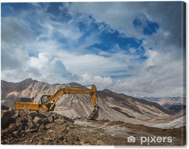 Tableau sur toile La construction de routes dans les montagnes Himalaya - Vacances