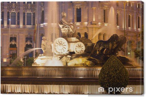 Tableau sur toile La fontaine de Cibeles à la Plaza de Cibeles à soir d'été - Villes européennes