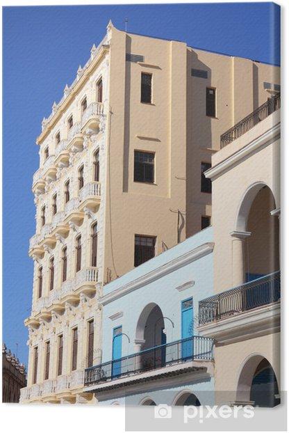 Tableau sur toile La Havane, Cuba - Plaza Vieja - Amérique
