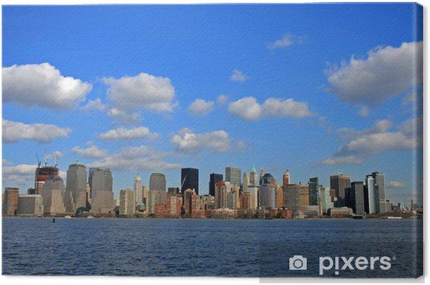 Tableau sur toile La Lower Manhattan Skyline - Villes américaines