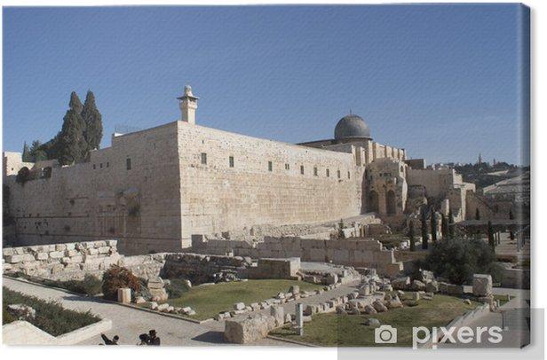 Tableau sur toile La mosquée Al Aqsa à Jérusalem terre sainte - Moyen Orient