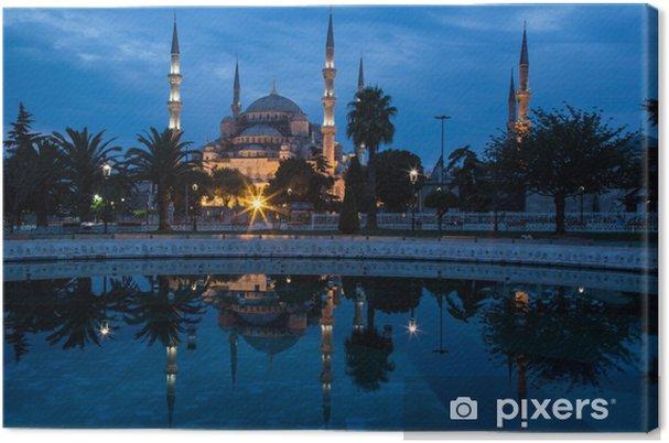 Tableau sur toile La Mosquée Bleue, Istanbul, dans la première lumière de l'aube. - Moyen Orient