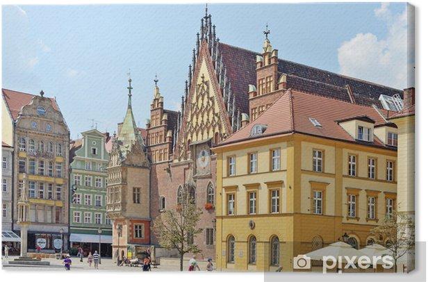 Tableau sur toile La place du marché, Wroclaw, Pologne - Europe