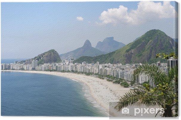Tableau sur toile La plage de Copacabana à Rio de Janeiro, au Brésil Skyline Vue aérienne - Thèmes