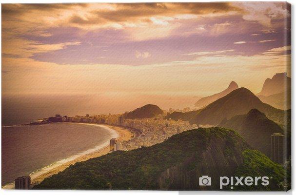 Tableau sur toile La plage de Copacabana - Thèmes