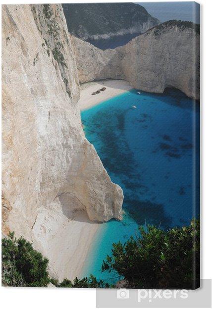 Tableau sur toile La plage du naufrage, île de Zakynthos, en Grèce - Europe