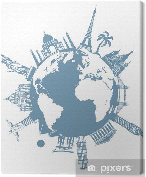 Tableau sur toile La Planète des voyages - Vacances