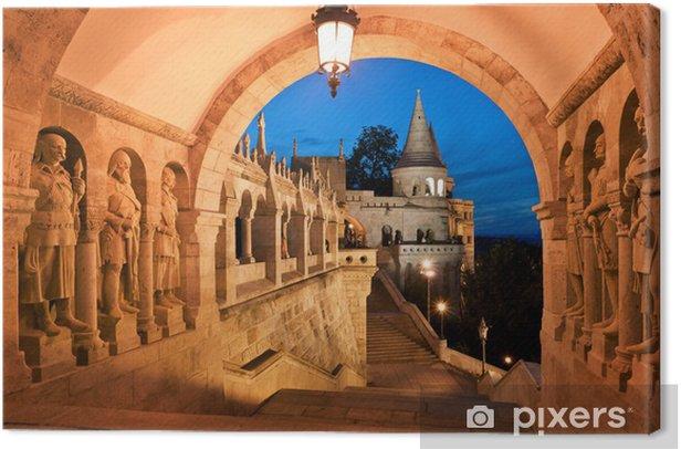 Tableau sur toile La porte sud du Bastion des Pêcheurs à Budapest - Thèmes