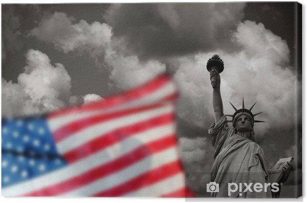 Tableau sur toile La Statue de la Liberté à New York, États-Unis - Amérique