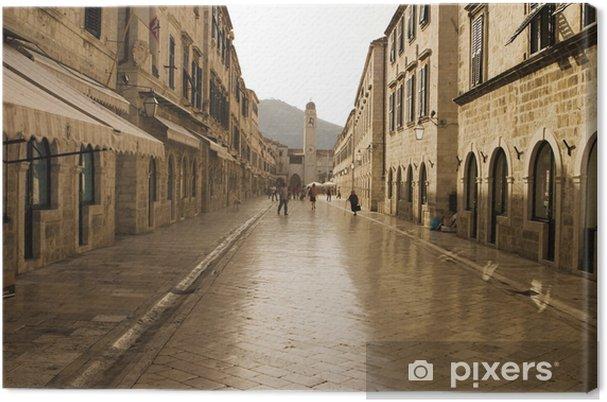 Tableau sur toile La Strada, rue Main, à Dubrovnik - Europe