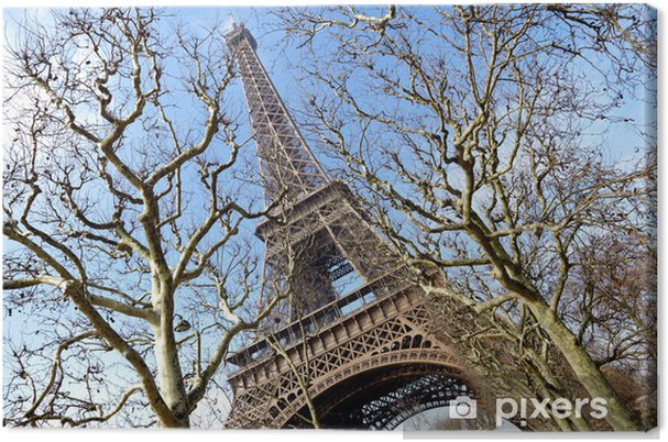 Tableau sur toile La tour eiffel de paris - Villes européennes
