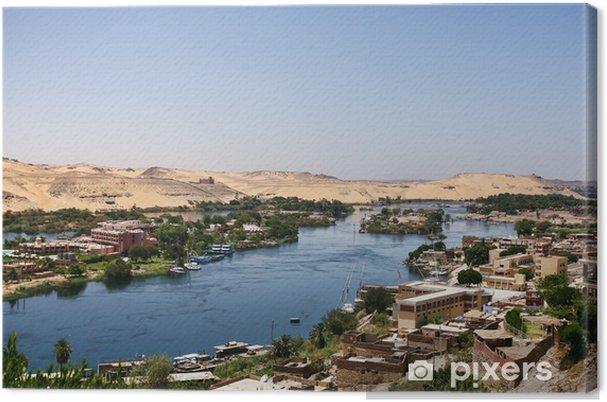 Tableau sur toile La vie sur le Nil en Egypte - Thèmes