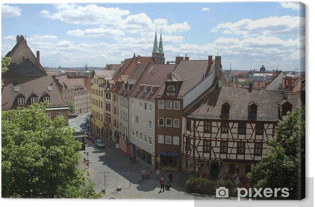 Tableau sur toile La vieille ville de Nuremberg - Europe