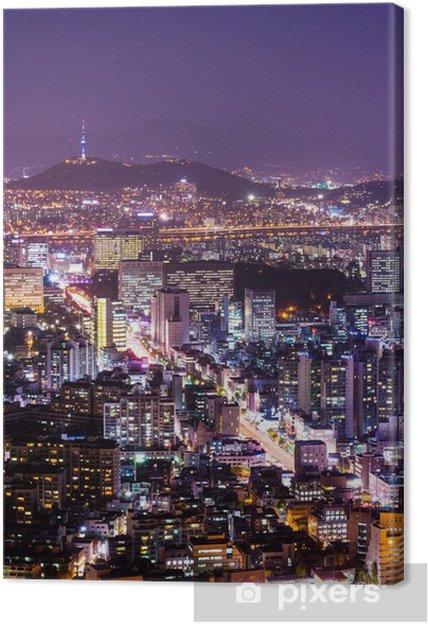 Tableau sur toile La ville de Séoul - Thèmes