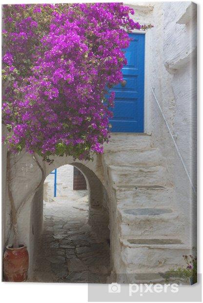 Tableau sur toile La ville médiévale de l'île de Naxos en Grèce - Europe