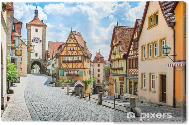 Tableau sur toile La ville médiévale de Rothenburg ob der Tauber, Bavière, Allemagne - Allemagne