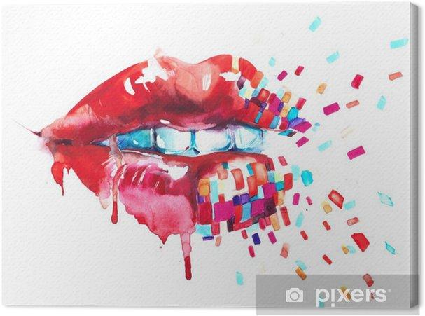 Tableau sur toile Lèvres - Style de vie