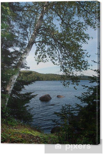 Tableau sur toile Lac en été - Eau