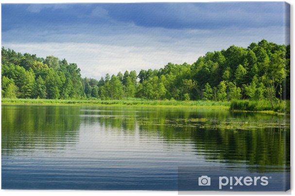 Tableau sur toile Lac et la forêt. - Thèmes
